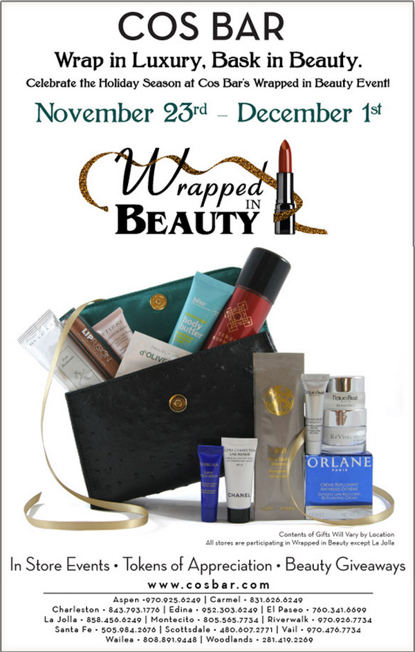 Cos Bar email Wrapped in Beauty 2012
