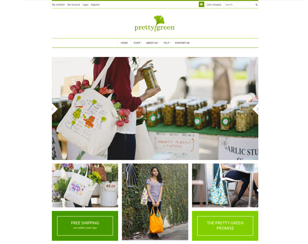 Pretty Green Home page