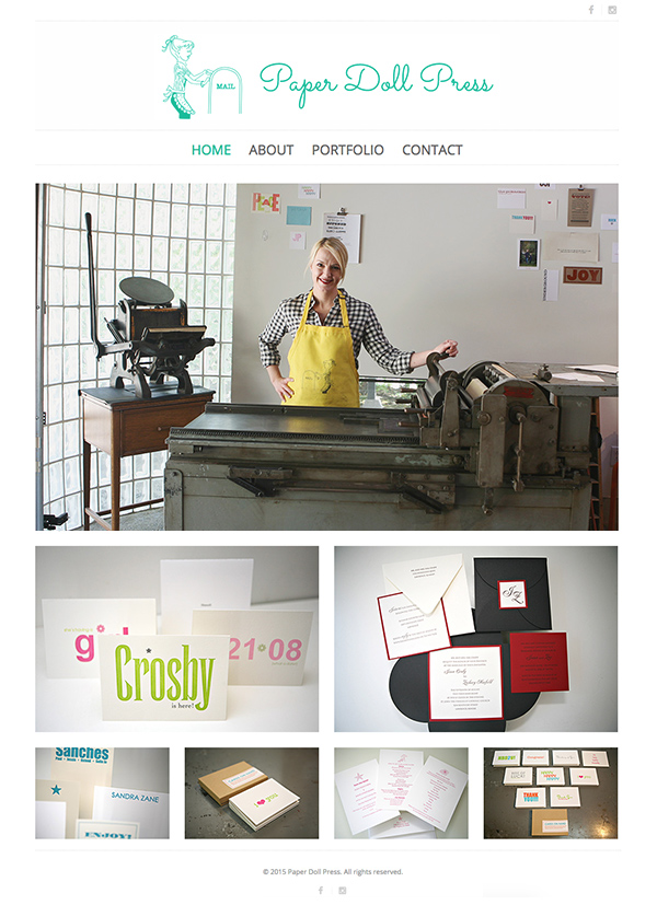 Paper Doll Press Home page